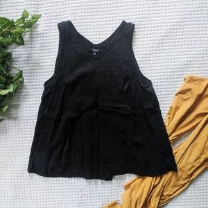 Madewell Trapeze Crop Tank in Black